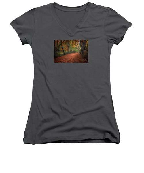 Fall Trail Women's V-Neck (Athletic Fit)