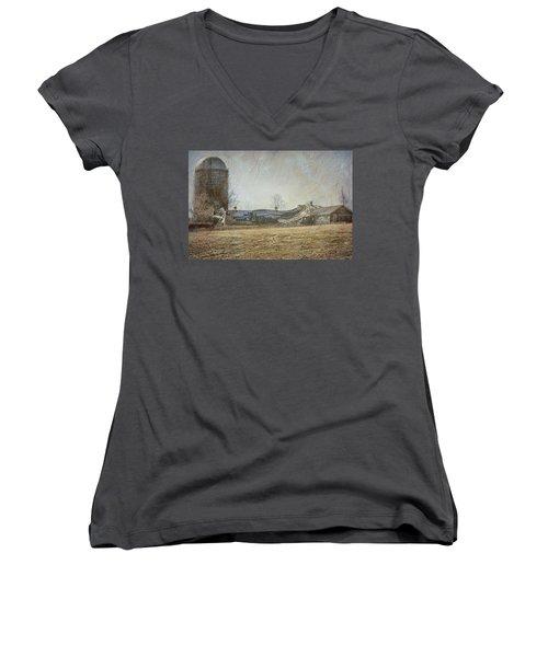 Fallen Barn  Women's V-Neck T-Shirt