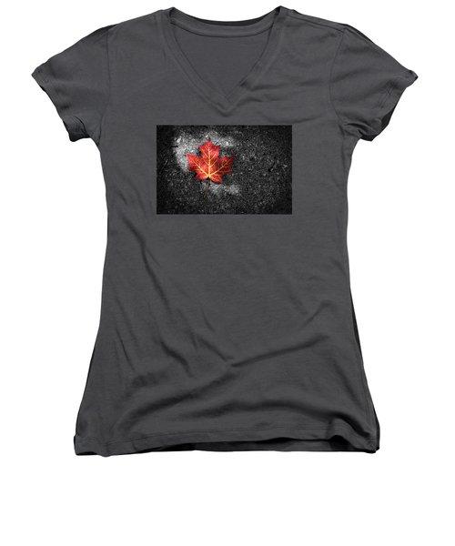 Fallen Leaf Women's V-Neck T-Shirt