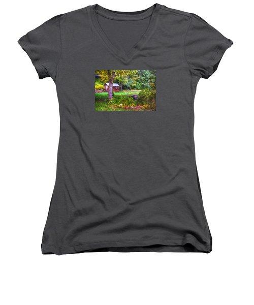 Falling Into Autumn Women's V-Neck T-Shirt