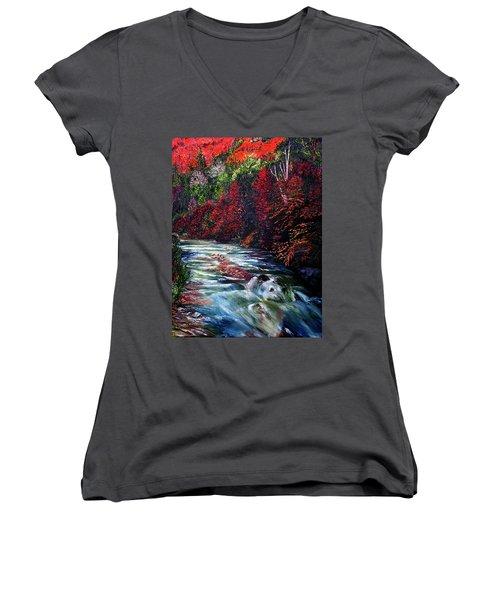 Falling Waters Women's V-Neck