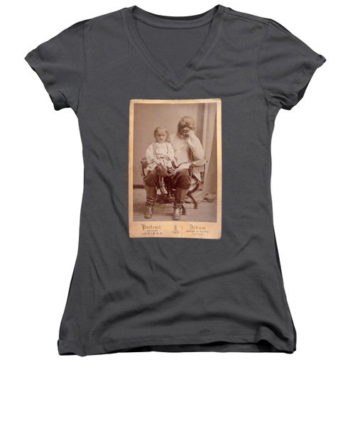 Famous Russian Sideshow Performer Jo-jo The Dog-faced Boy Women's V-Neck (Athletic Fit)