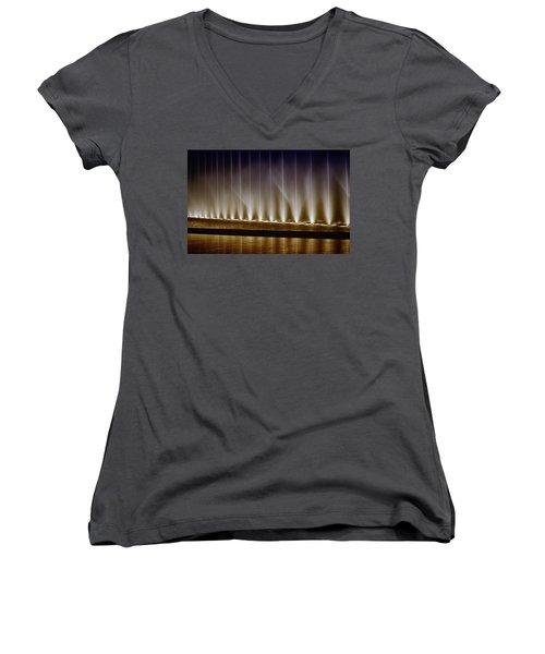 Fanfare Fountains Women's V-Neck T-Shirt (Junior Cut) by Joseph Hollingsworth