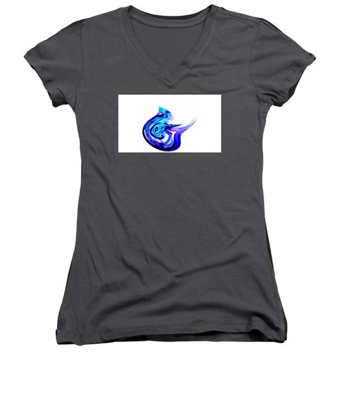Fantasy Bird Women's V-Neck T-Shirt (Junior Cut) by Thibault Toussaint
