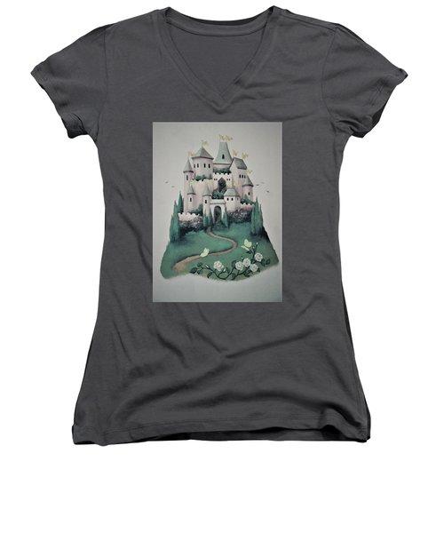Fantasy Castle Women's V-Neck