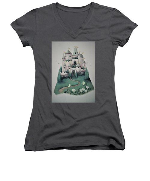 Fantasy Castle Women's V-Neck T-Shirt