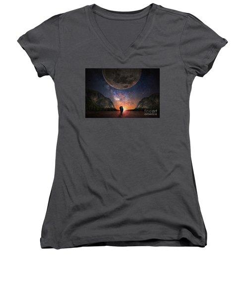 Fantasy Hike Women's V-Neck T-Shirt