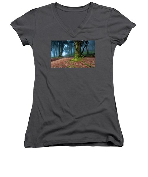 Women's V-Neck T-Shirt (Junior Cut) featuring the photograph Fantasy by Jorge Maia