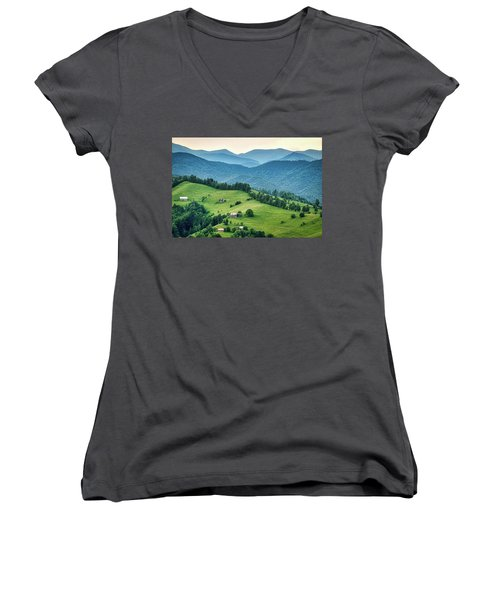 Farm In The Mountains - Romania Women's V-Neck