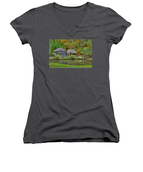 Farm In Woods Women's V-Neck