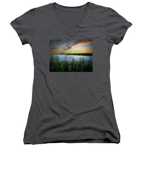 Farm Pond Women's V-Neck T-Shirt