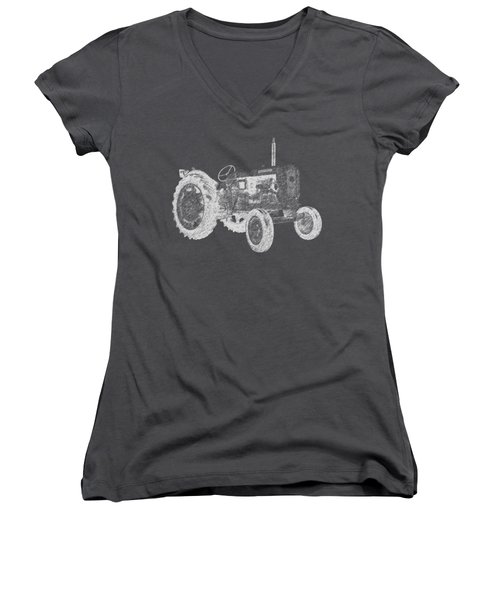 Farm Tractor Tee Women's V-Neck (Athletic Fit)
