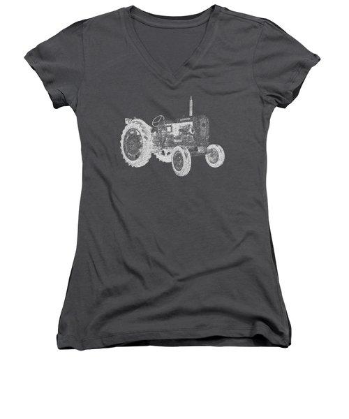 Farm Tractor Tee Women's V-Neck