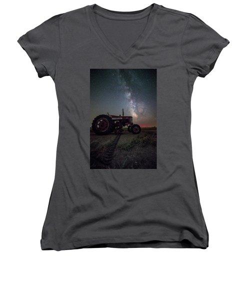 Women's V-Neck T-Shirt featuring the photograph Farmall by Aaron J Groen
