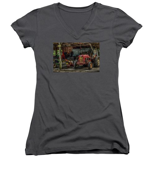Farmall Tractor - Forever Florida Women's V-Neck (Athletic Fit)