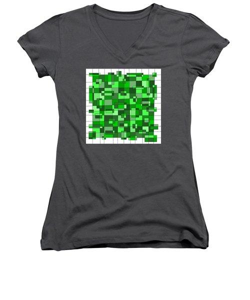 Farmer Green Women's V-Neck (Athletic Fit)