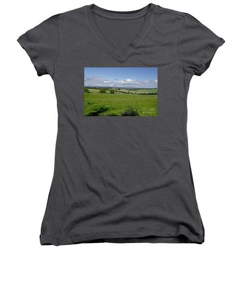 Farmland In Beecraigs. Women's V-Neck