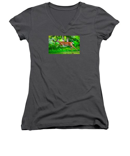 Fast Fawn 2 Women's V-Neck T-Shirt