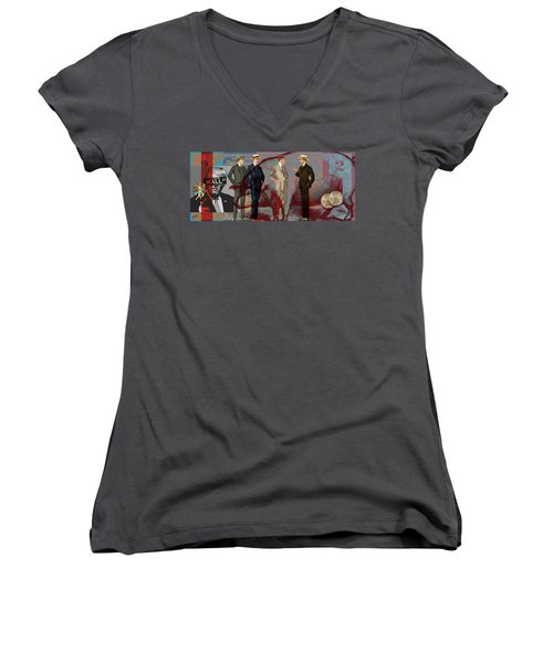 Fat Necks Women's V-Neck T-Shirt (Junior Cut)
