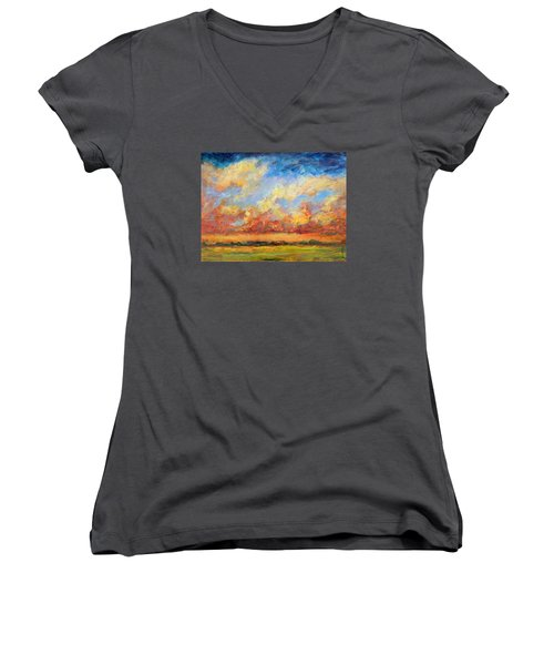 Feathered Sky Women's V-Neck T-Shirt