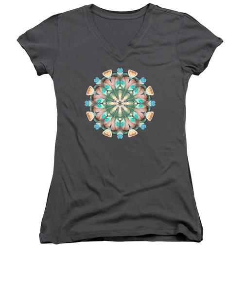Feathers Women's V-Neck T-Shirt (Junior Cut) by Mary Machare
