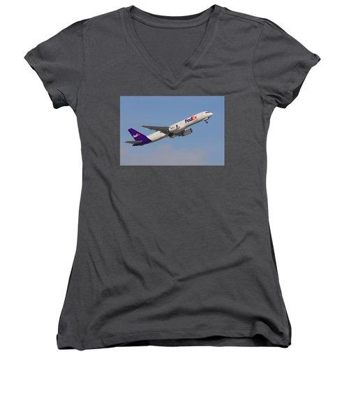 Fedex Jet Women's V-Neck