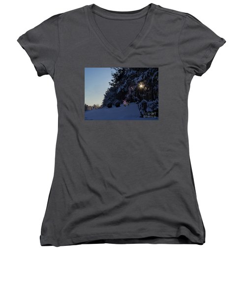 Feeding The Squirrels Women's V-Neck (Athletic Fit)