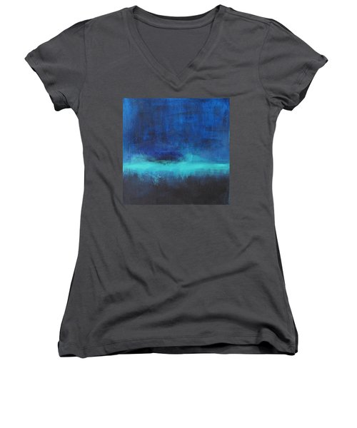 Feeling Blue Women's V-Neck T-Shirt (Junior Cut) by Nicole Nadeau