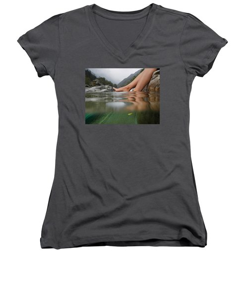 Feet On The Water Women's V-Neck