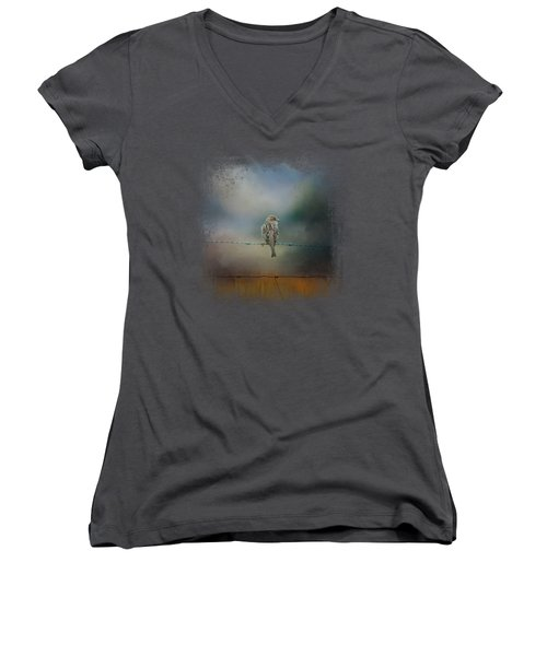 Fence Master Women's V-Neck T-Shirt