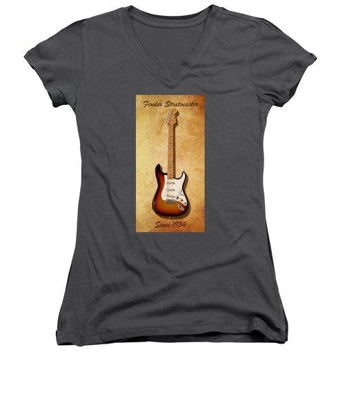 Fender Stratocaster Since 1954 Women's V-Neck
