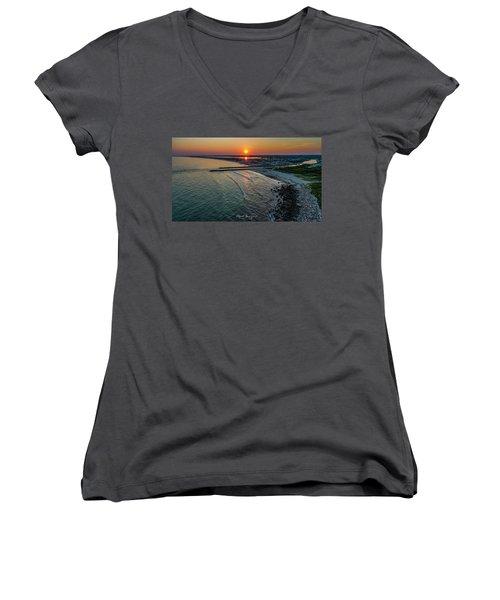 Fenway Beach Sunset Women's V-Neck
