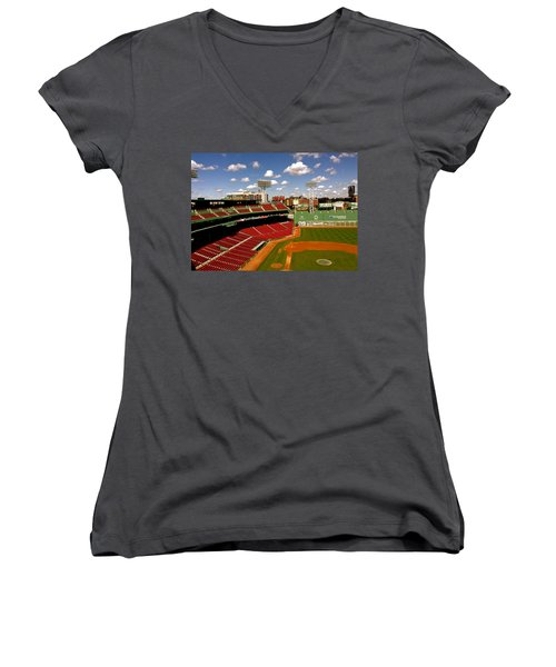 Fenway Park Iv  Fenway Park  Women's V-Neck T-Shirt (Junior Cut) by Iconic Images Art Gallery David Pucciarelli