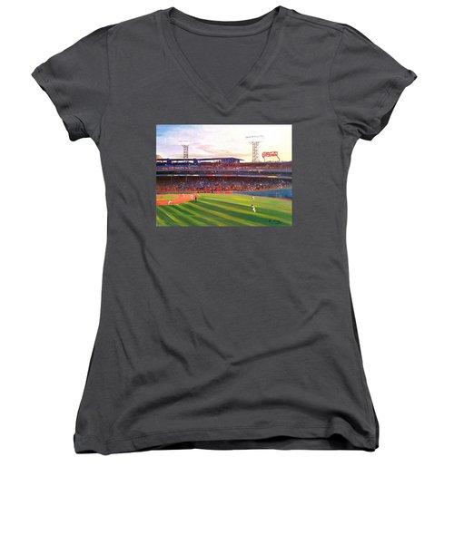 Fenway Park Women's V-Neck T-Shirt