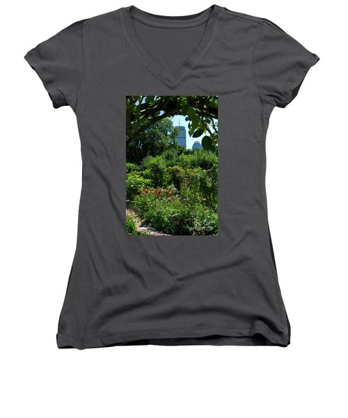 Fenway Victory Gardens In Boston Massachusetts  -30951-30952 Women's V-Neck