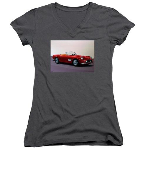 Ferrari 250 Gt California Spyder 1957 Painting Women's V-Neck