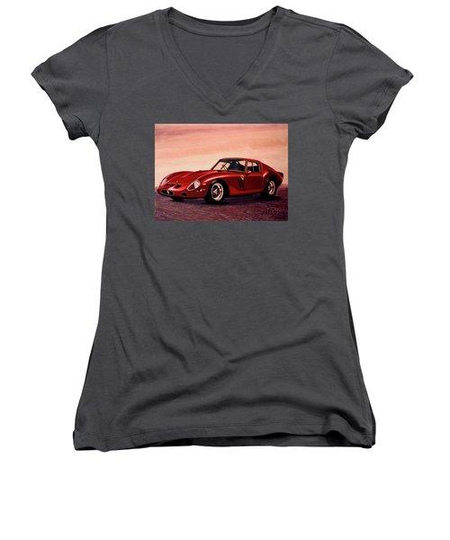 Ferrari 250 Gto 1962 Painting Women's V-Neck T-Shirt (Junior Cut) by Paul Meijering