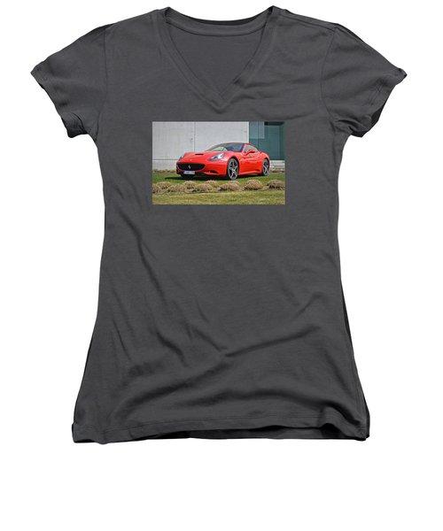 Ferrari California Women's V-Neck
