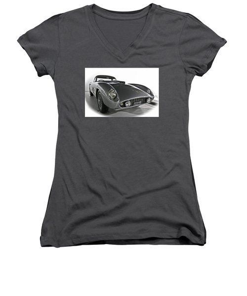 Ferrari Classic 3 Women's V-Neck (Athletic Fit)