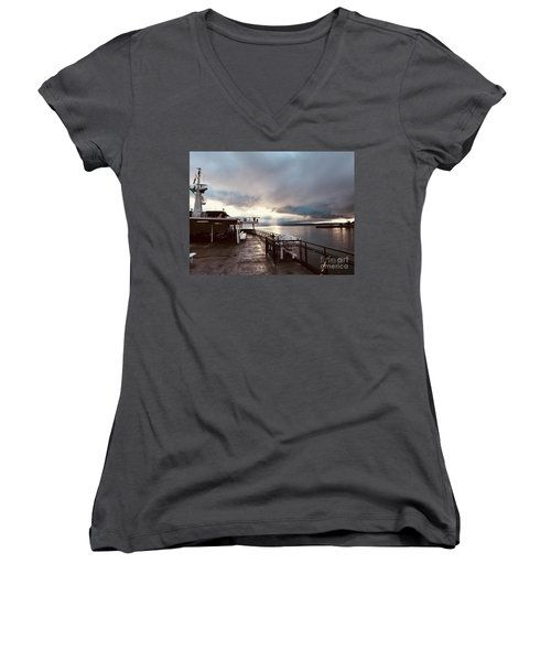 Ferry Morning Women's V-Neck (Athletic Fit)