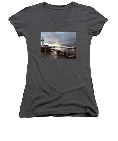 Ferry Morning Women's V-Neck T-Shirt