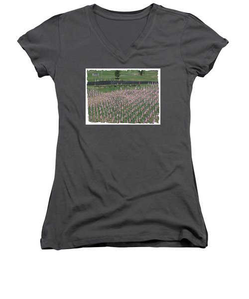 Field Of Flags - Gotg Arial Women's V-Neck (Athletic Fit)