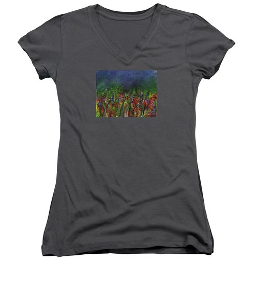 Field Of Flowers Women's V-Neck