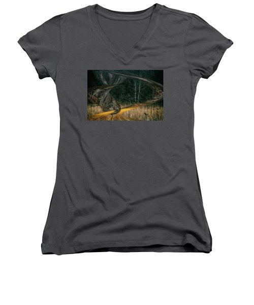 Field Warping Women's V-Neck
