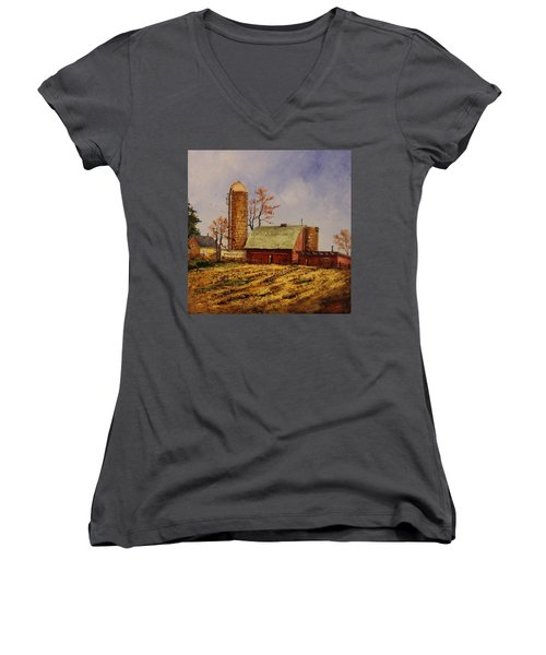 Fields Ready For Fall Women's V-Neck (Athletic Fit)