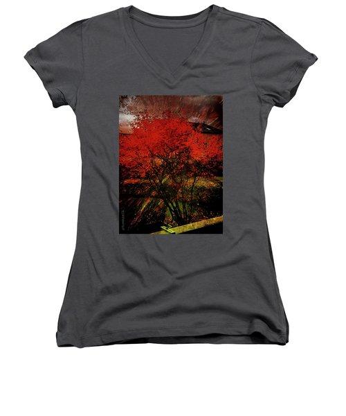 Fiery Dance Women's V-Neck T-Shirt