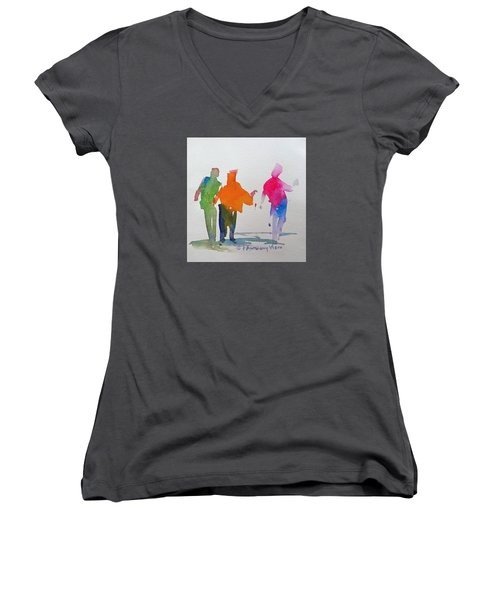 Figures In Motion  Women's V-Neck T-Shirt (Junior Cut) by P Anthony Visco