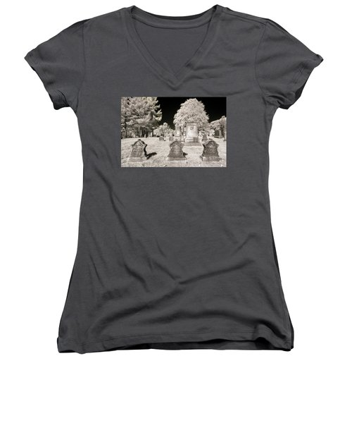 Women's V-Neck featuring the photograph Final Three by Brian Hale