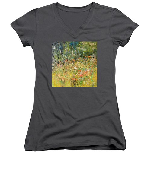 Find Me Where The Wild Things Are Women's V-Neck (Athletic Fit)