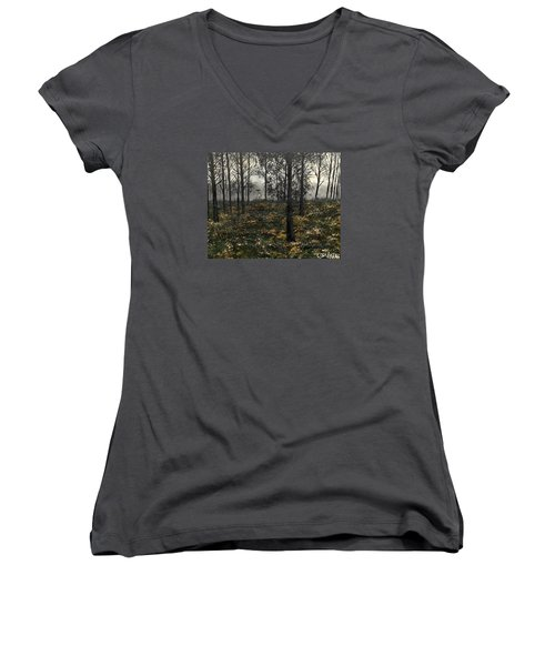 Find The Right Path Women's V-Neck T-Shirt (Junior Cut) by Lisa Aerts
